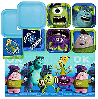 Hallmark - Disney Pixar Monsters University Party Plates Napkins And Tablecloth
