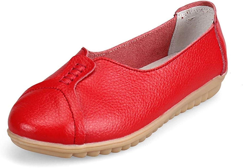 August Jim Women Flats shoes Comfortable Loafers Slip on Ballet Ladies shoes
