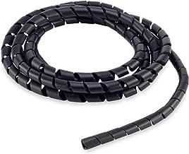 Organizador De Cabos Espiral 12mmx1,1mm 3mts. Preto, Force Line, 101200031