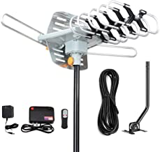 Digital Outdoor Amplified HD TV Antenna 150 Miles Long Range-Support 4K 1080p Firestick 2 TVs with 360 Degree Rotation for...