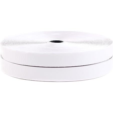 Dondo Klettband Haken Flausch Klettverschluss stark selbstklebend weiß 25m