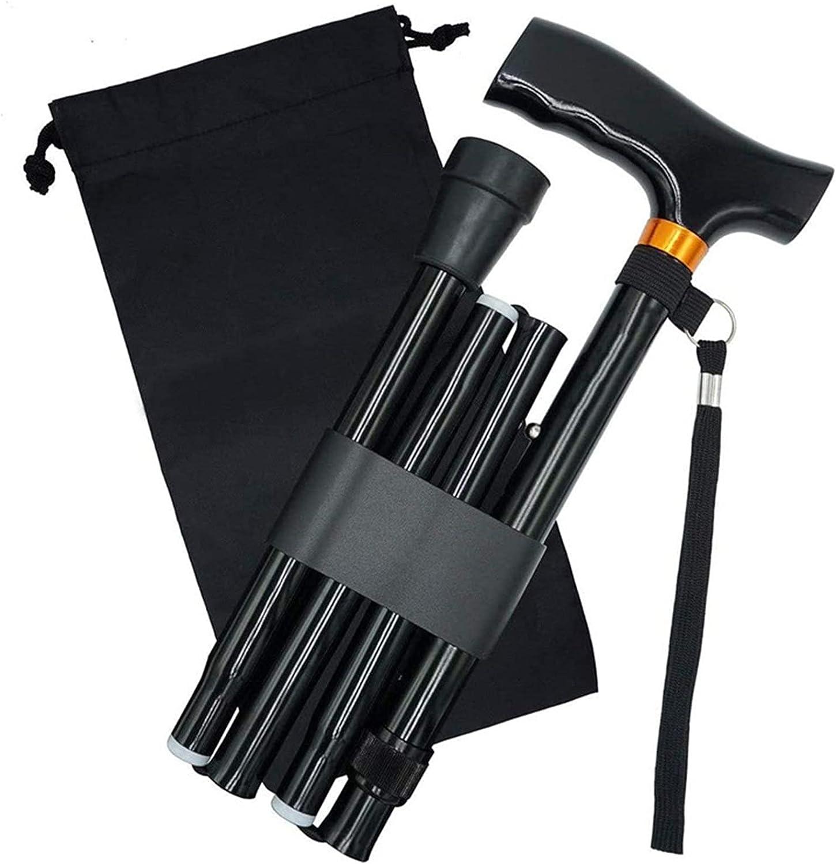 Folding Cane for Very popular Men Women Portland Mall Black Portable Adjustabl Lightweight