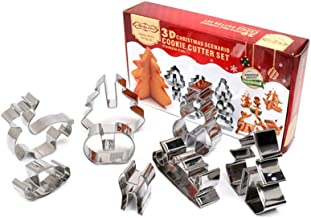 3D Christmas Scenario Cookie Cutter Set
