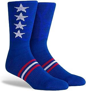 PKWY NBA Unisex 1-Pack Team Stacked Crew Socks