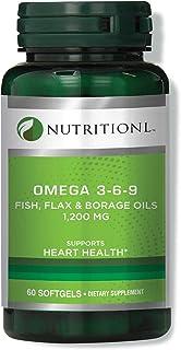 Nutritionl Omega 3-6-9 Fish, Flax & Borage Oil 1200 mg 60 Softgels