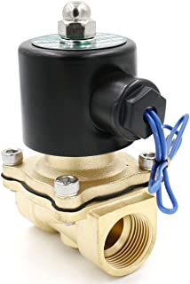Heschen Válvula de solenoide eléctrica de latón 3/4 pulgadas AC 220V Acción directa Válvula de repuesto de gas agua normalmente cerrada