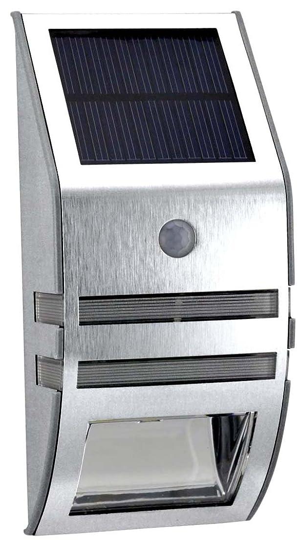 期限新しい意味運搬ソーラー 人感 センサー 玄関 照明 LED ライト 【シルバー】