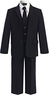 OLIVIA KOO Boys Solid 5-Piece Formal Suit Set with Matching Neck Tie