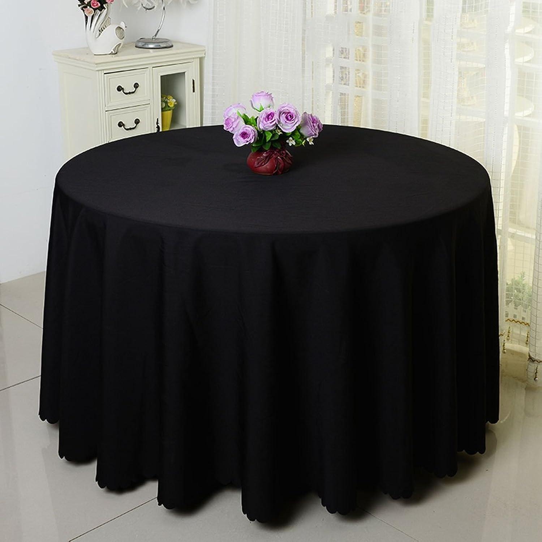 Unbekannt %Tablecloth Runde Tischdecke, Hotel Solid Farbe Hochzeit Runden Tischdecke Couchtisch Tischtuch schwarz grün (Farbe   SCHWARZ, gre   Round-320cm)