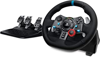 Logitech G29 Driving Force Racing Wheel and Floor Pedals, Real Force, Stainless Steel Paddle Shifters, Leather Steering Wh...