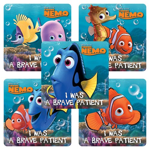 SmileMakers Disney Finding Nemo Medical Stickers - 100 Per Pack