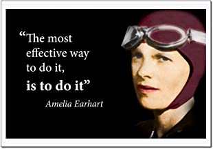 Amelia Earhart Inspirational Women Poster Quote Large (The most effective way to do it, is to do it) Young N Refined - (18x24)