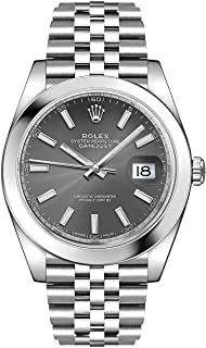 Men's Rolex Datejust 41 Dark Rhodium Oystersteel Watch (ref. 126300)