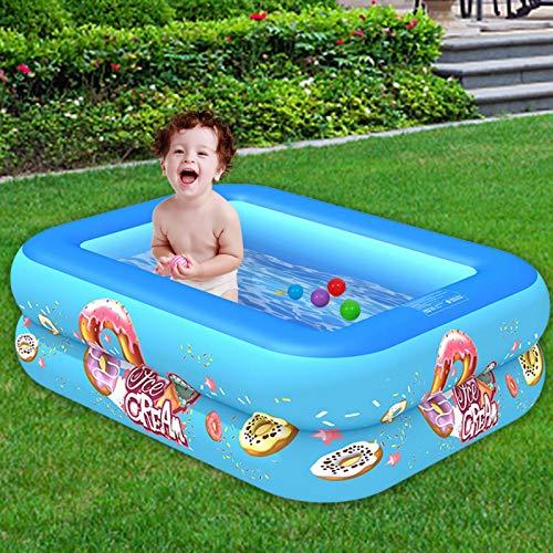 hooks Piscina Inflable Familiar Swim Center, Piscina Rectangular para Entretenimiento de niños y Adultos, Piscina Gruesa para Patio Trasero, Fiesta acuática de Verano, Exterior, jardín, 103x75x30 mm
