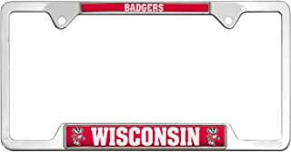 AMG Auto Emblems All Metal NCAA Mascot License Plate Frame (Wisconsin)