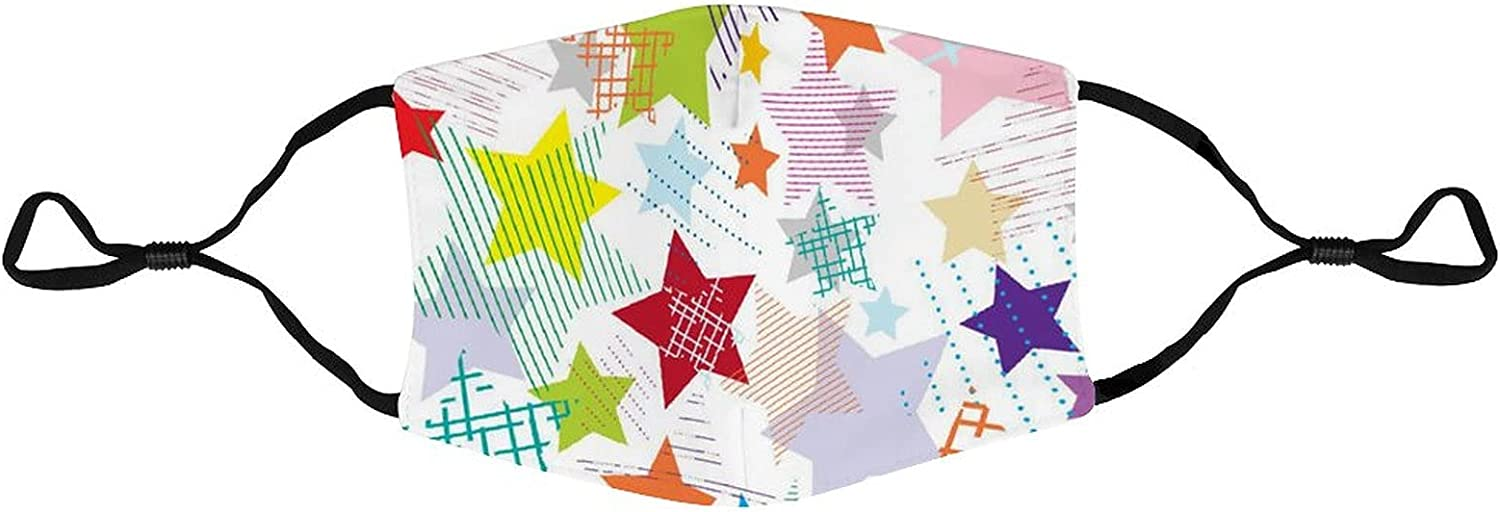 Stars Abstract Colorful Seamless Pattern - The second layer of skin cloth suit can be washed and reused