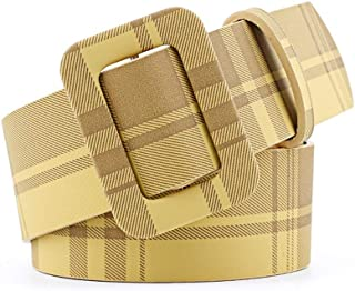SGJFZD New Fashionable Multi-Color Decorative Dress with Sweater Thin Belt Ladies Wild Pin Buckle PU Wide Belt Belt (Color : Yellow, Size : 105 * 4.3cm)