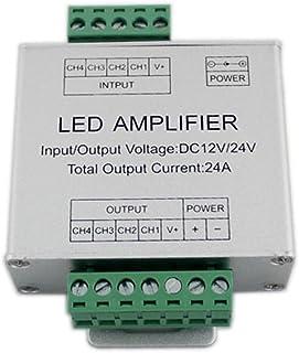 JOYLIT 4 Canales DC12V 24V 3X6A RGBW LED Amplificador de Señal de Datos Repetidor de Aluminio Shell Para RGBW Luces LED Tira