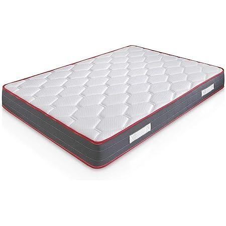 Matelas Ergo-Therapy 90X200 à mémoire de forme | 18 cm Épaisseur | 2 cm de mousse à mémoire de forme de 65kg/m3 | Foam AirSistem | Extrêmement durable | Certification ISO 9001®