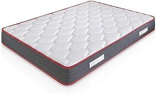marcKonfort Matelas Ergo-Therapy 140x190 à mémoire de Forme   18 cm Épaisseur   2 cm de Mousse à mémoire de Forme de 65 kg...