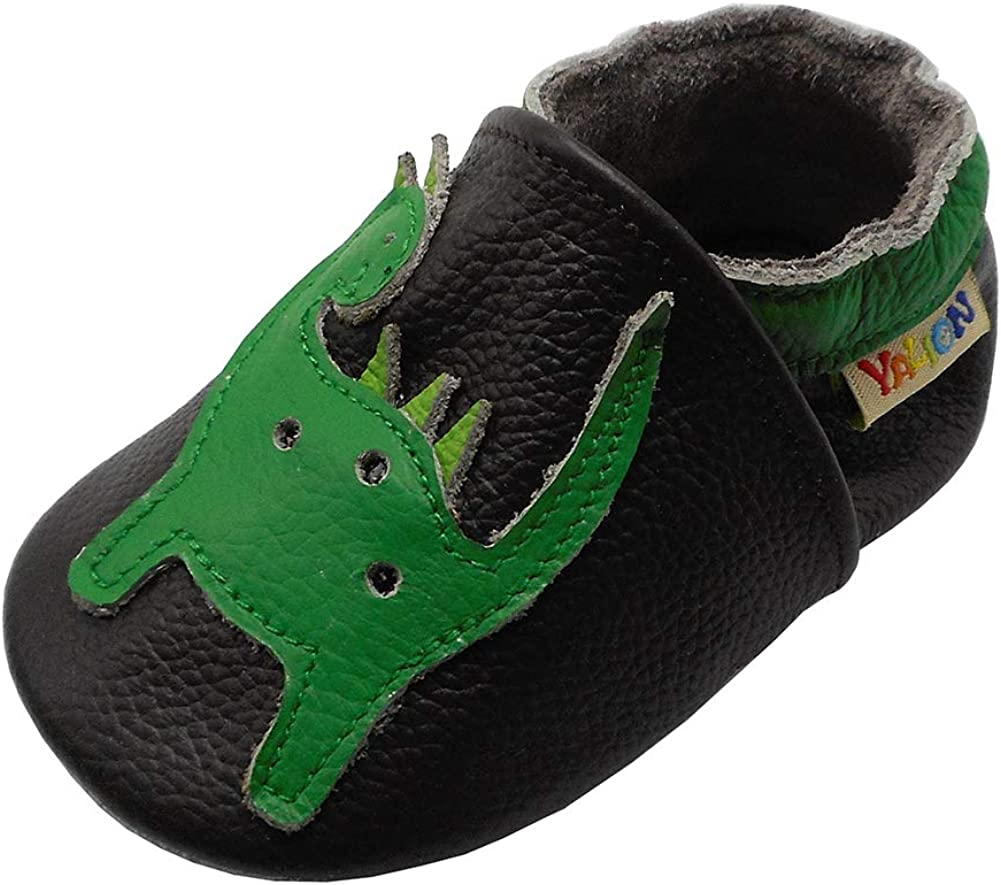 YALION Soft Leather Baby Shoes Suede Sole Toddler Infant Crib Shoes First Walking Pre-Walker Multi-Designs