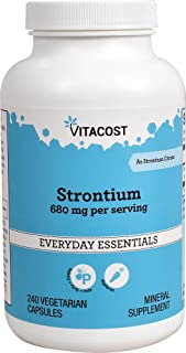Vitacost Strontium - 680 mg per Serving - 240 Vegetarian Capsules