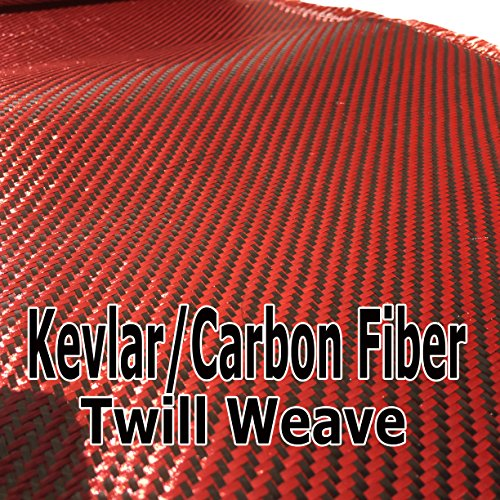 12 x 5 FT Red Kevlar FABRIC-2x2 Twill WEAVE-3K//220g