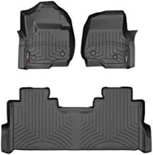 WeatherTech Custom Fit FloorLiner for Ford F-250/F-350/F-450/F-550-1st & 2nd Row (Black)