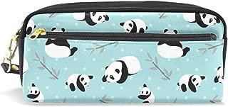 Estuche para lápices, diseño de oso panda, bolsa para lápices con cremallera para niñas, bolsa de maquillaje grande con compartimentos
