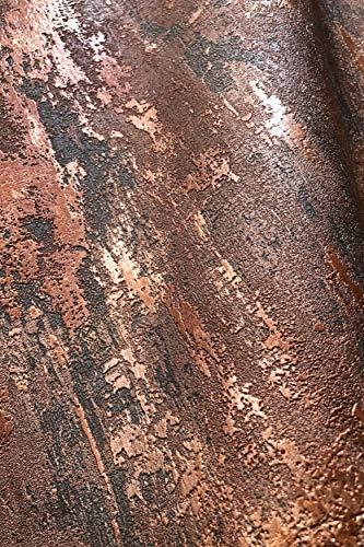 NEWROOM Tapete Bronze Putz Beton Architekt Vliestapete Braun Vlies moderne Design Optik Tapete Struktur Premium Industrial inkl. Tapezier Ratgeber