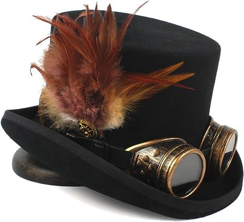 mejor calidad Happy-L Sombrero, Barco Pirata Sombrero de Copa Circo Circo Circo Steampunk Sombrero Noche Barco de Circo Sombrero Sombrero de Copa,Ocio Fashion Cap. (Color   negro, tamaño   59CM)  increíbles descuentos