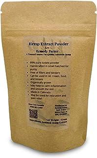 Remedy Farms Hemp Extract Powder – Pure Hemp Powder – Multipurpose Hemp Powder Isolate for Oil, Cream and Edibles – Organi...