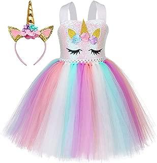 Princess Unicorn Dress Costume Girls Birthday Party Role Play Size 1-12Y