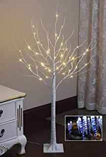 Lightshare 4FT 48L LED Birch Tree,Warm White