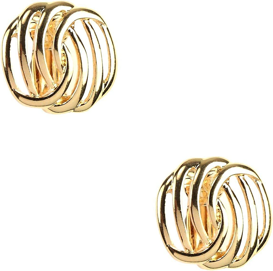 Napier Knot Button Clip Earrings One Size
