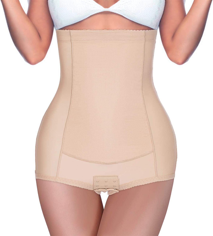 BRABIC Women High Waist Control Panties Postpartum Belly Girdle Band Slimming Underwear Butt Lifter Shapewear