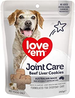Love Em Joint Care Beef Liver Cookies Dog Treats 250g
