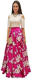 6a25cc2ebd Aarna Fshion womens Pink banglori Silk Embroidred A-line Lehnga Choli For  Women, Free