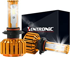 XENTRONIC H7 LED Headlight Foglight Bulb for any H7 Halogen Headlight Bulb upgrade to LED (1 pair, Ocean Blue)