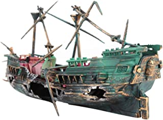 fish tank boat decorations