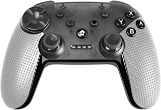 Powtree Bluetooth Remote Wireless Pro Controller for Nintendo Switch Gyro Axis Motion Controls Vibration Sense Gamepad Compatible with Playstation 3 Windows PC Android Game Controllers (Light Grey)