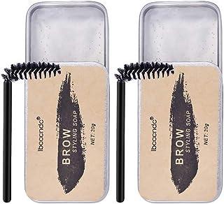 Lurrose Sobrancelhas Styling Sabão Transparente Selvagem Sabão Com Escovas Kit Sobrancelha Sobrancelha Styling Pomada para...