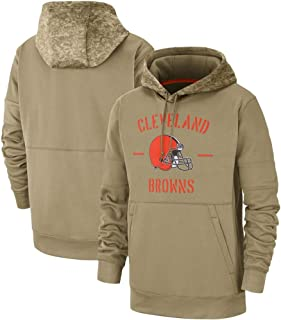 Dunbrooke Apparel Cleveland Browns 2019 Salute to Service Sideline Therma Pullover Hoodie