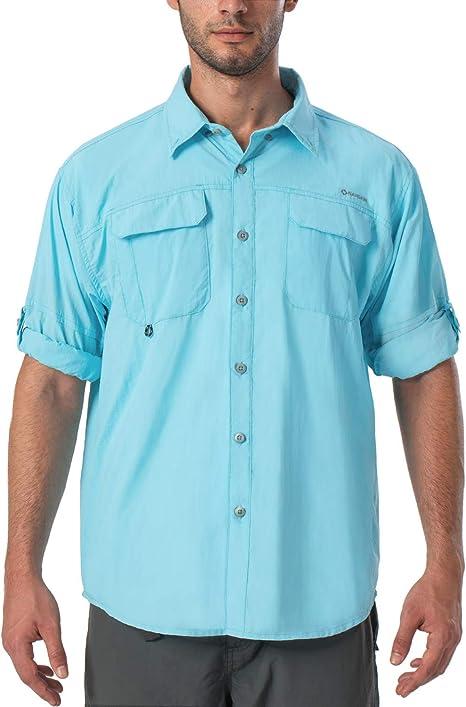 NAVISKIN Camisa Casual de Manga Larga Protección UV UPF 50 para Hombre Camiseta Deporte Térmica Ligero Secado Rápido