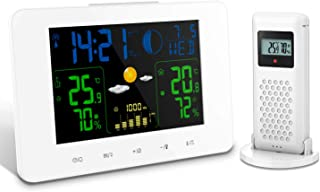 Oritronic Weather Station, Indoor Outdoor Thermometer with Forecast, Temperature, Clock, Moon Phase, Trend and Wireless Sensor