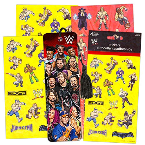 WWE School Supplies Set with WWE Stickers for Kids and WWE Bookmark - WWE Party Supplies Birthday Party Favors (WWE School Stuff)