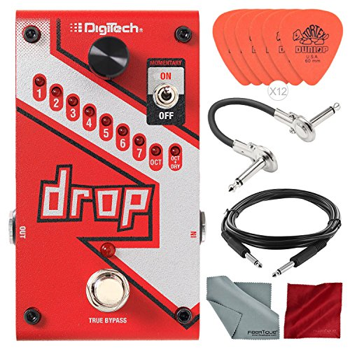 DigiTech Drop Polyphonic Drop Tune Pitch-Shifter Pedal with Deluxe Accessory Bundle