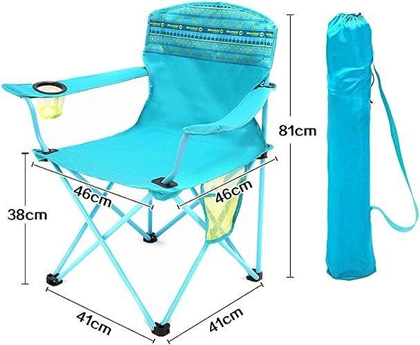 ASDFGH Ultra-légères Compacte Chaise d'extérieur Pliable, portable Chaise de Camping Chaise de Plage Lounge avec Porte-gobelet avec des Sacs de Stockage, Chaise de Jardin-Bleu A