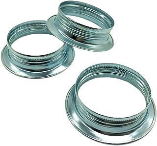 Lot de 3bague Douille E27en métal pour lampes Chromé Hauteur de l'anneau 15mm à visser pour écran ou verre de lamp...