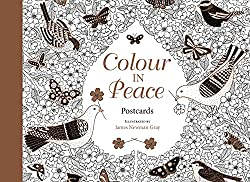 colour in peace post cards